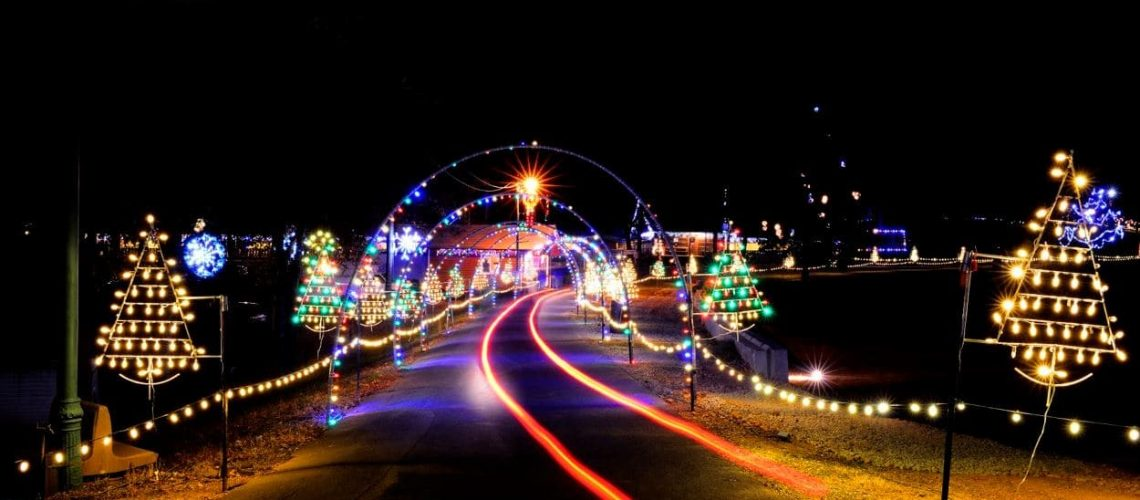 private car taking you through christmas lights display